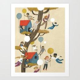 treehouse neighbours Art Print