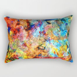 abstract drawing by hand oil paints. background, texture Rectangular Pillow
