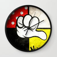 minnie Wall Clocks featuring Mediocre Minnie  by LNTCREATIONS