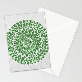 Mandala Green on Japanese Rice Paper Stationery Cards