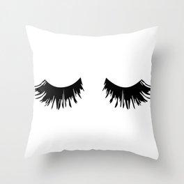 Eyelash Print Throw Pillow