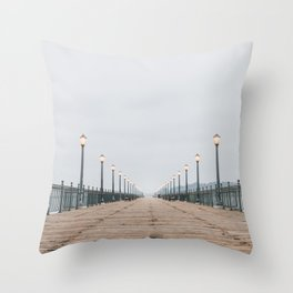 Morning at the Pier Throw Pillow