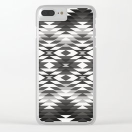 New Mexico in Black and White Clear iPhone Case