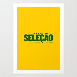 Brasil (World Cup 2018) Art Print