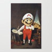 mario Canvas Prints featuring Mario by Linus Carlsson / LC art