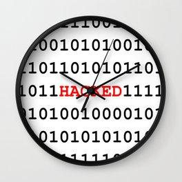 Binary black cyber data digits Wall Clock