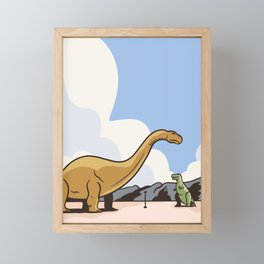 Cabazon Dinosaurs Framed Mini Art Print
