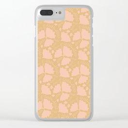 Golden papillon Clear iPhone Case