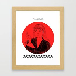 Laura Palmer MEANWHILE Twin Peaks Framed Art Print