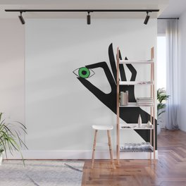 Green Eye Wall Mural