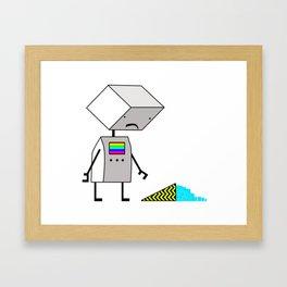 Sad Robot Framed Art Print