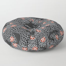 Hidden Dragon / Oriental dragon design Floor Pillow