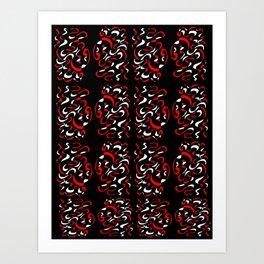 ribbon 14-ornamental,fabrics,fashion,decorative,girly,gentle Art Print
