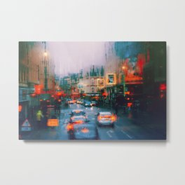 Beautiful traffic lights in london Metal Print