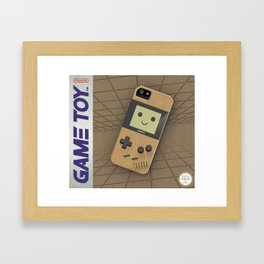 GAMETOY - Wooden         Game Boy, toy, wood, Gameboy Framed Art Print
