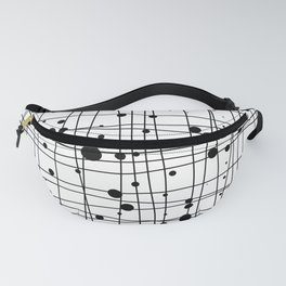 Woven Web black and white Fanny Pack
