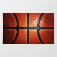 lakers Area & Throw Rugs featuring Basketball by alifart