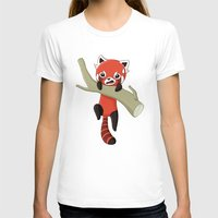 red panda T-shirts featuring Red Panda by Freeminds