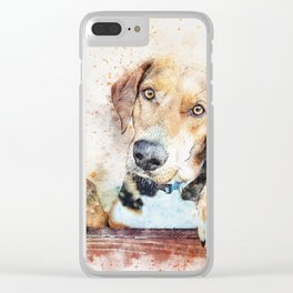 Dog Unhappy Animal Clear iPhone Case