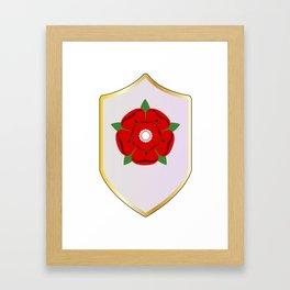 Lancastrian Red Rose Shield Framed Art Print