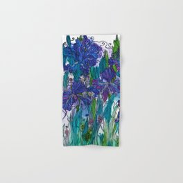 Blue Irises Hand & Bath Towel