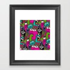 Cool Time Pattern Framed Art Print