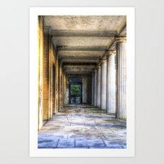 Kensal Green Cemetery  Colonnade Art Print