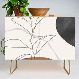 Abstract Art /Minimal Plant Credenza
