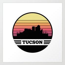 Tucson Skyline Art Print