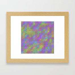 colored tiles Framed Art Print