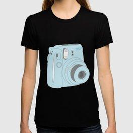 Kawaii Instax Camera Blue T-shirt