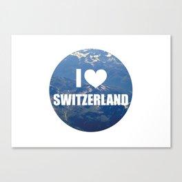 I Love Switzerland Canvas Print