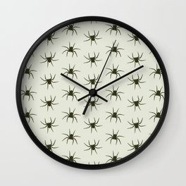 Spiders grey Wall Clock