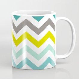 Ocean Colors Chevron Pattern Coffee Mug