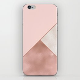 Luxury Glamorous Rose Gold Metallic Glitter iPhone Skin