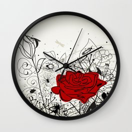 Insect a flower Wall Clock