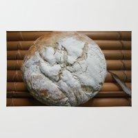 bread Area & Throw Rugs featuring Bread Winner by KunstFabrik_StaticMovement Manu Jobst