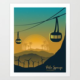 Palm Springs Valley - Sunrise Vertical Version Art Print