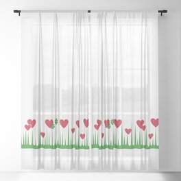 """""""Lucky in Love"""" Rare Pyrex Holy Grail Vintage Inspired Sheer Curtain"""
