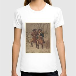 Vintage Continental Army Soldiers Painting (1875) T-shirt