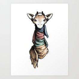 Brrrr-affe Art Print