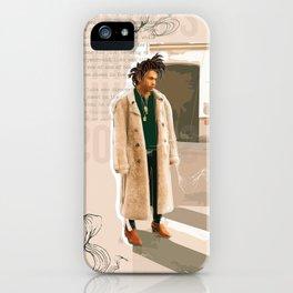 Luka Sabbat Fashion Illustration // Mens Fashion Illustration iPhone Case