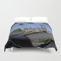 cracked Duvet Covers featuring Mirror Cracked by Valann