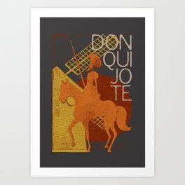 Books Collection: Don Quixote Art Print