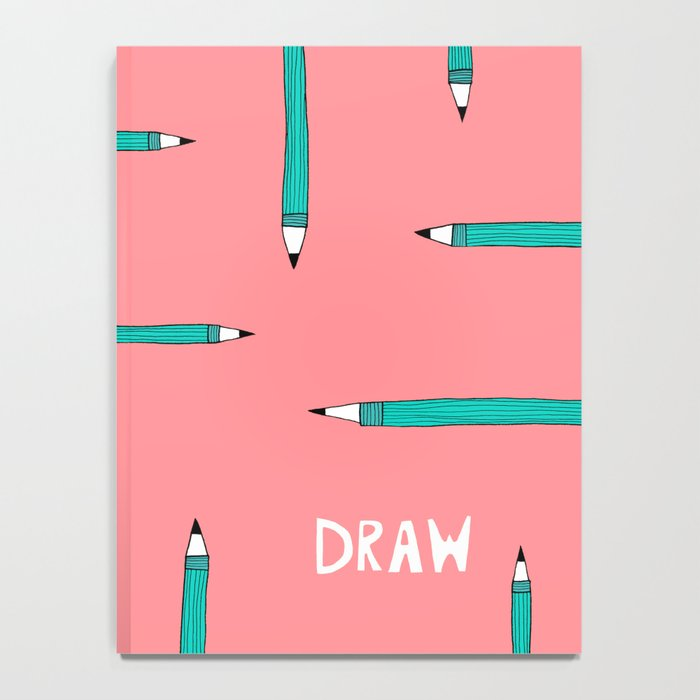 Draw Pink and Teal Sketchbook for Artists Notebook