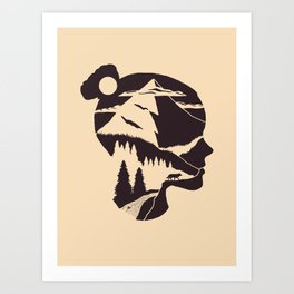The Head Art Print