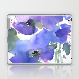 Blue Poppies and Wildflowers Laptop & iPad Skin