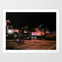 cowboy bebop Art Prints featuring Spike Spiegel (Cowboy Bebop)  by Jackobi Austin
