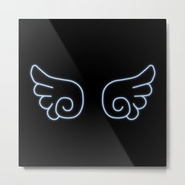 Chibi Angel Wings Metal Print