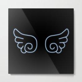 Chibi Angel Wings Metal Print